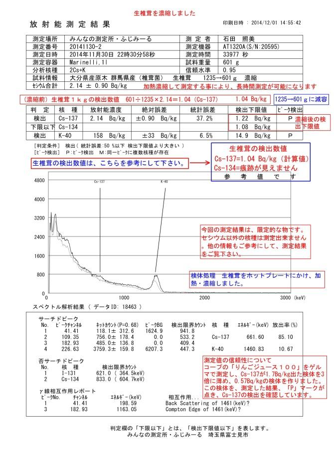 18463-1 生椎茸 大分県産原木