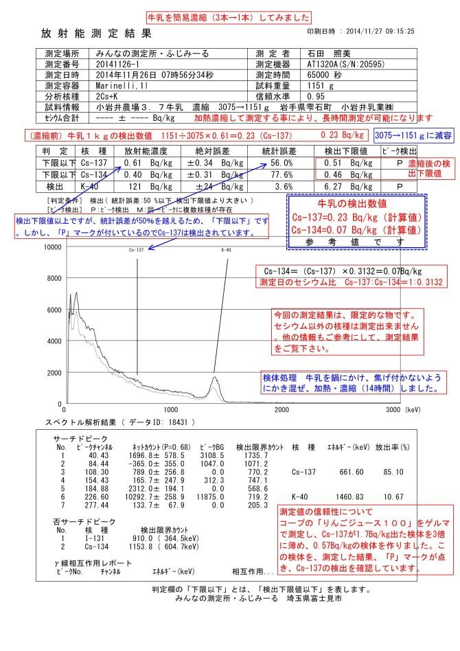 18431-1 小岩井牛乳 濃縮