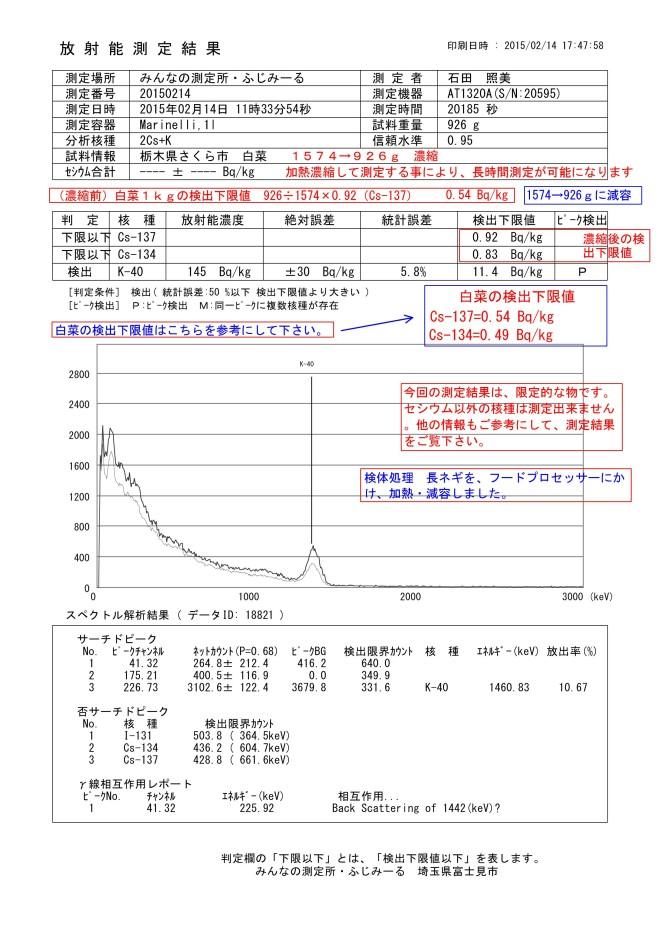 18821-1  栃木県さくら市産 白菜